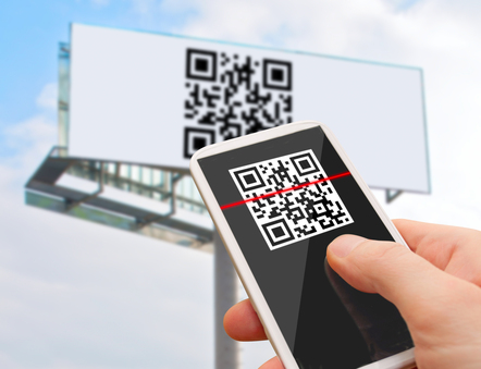 Reading of QR Code from Billboard with Smartphone