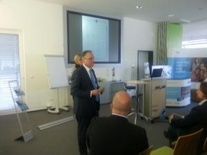 Michael Blechschmidt, Gastgeber und Beiratsvorsitzen der Poolgroup hatte ein informatives Programm zusammengestellt.