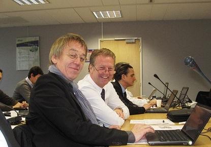 Fürs Foto lachen die beiden: Dieter C. Rangol (bsw) und Bert Granderath (grando)