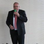 Grünbeck-Chef Dr. Günter Stoll begrüßte die Teilnehmer persönlich.